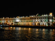 Winter Palace in St Petersburg Russia. Winter Palace in Saint Petersburg official residence of the Russian monarchs from 1732 to 1917 at night Royalty Free Stock Photography