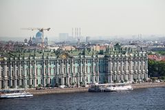 The Winter Palace, Saint Petersburg, Russia. The Winter Palace was the official residence of the Russian monarchs. Today, the restored palace forms part of a royalty free stock photography