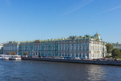 Winter Palace which houses Hermitage museum. Royalty Free Stock Photos