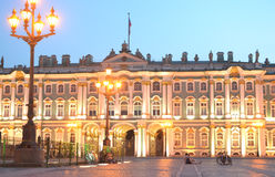 Winter Palace at white night Stock Image