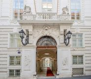 Winter-Palast-Stadt-Palast-Prinz Eugene des Wirsings in Himmelpfortgasse in Wien, Österreich stockbilder