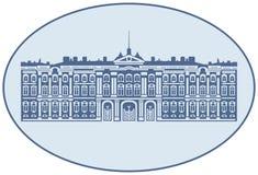 Winter-Palast-und Zustands-Einsiedlerei-Museum in St Petersburg, Russland vektor abbildung