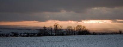 Winter panorama Royalty Free Stock Photo