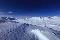 Winter panorama. Fresh fallen snow in Laax, Switzerland Stock Photography