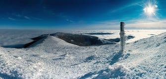Winter-Panorama stockbilder