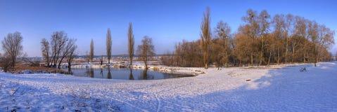 Winter panorama. Winter landscape panorama ice and snow Stock Image