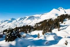 Winter panorama above Grindelwald Stock Photos