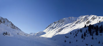 Winter panorama in the Alps Royalty Free Stock Image