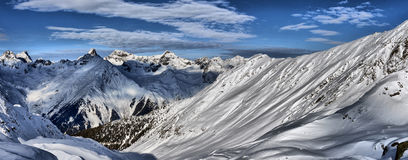 Winter panorama of the Alps Royalty Free Stock Photography
