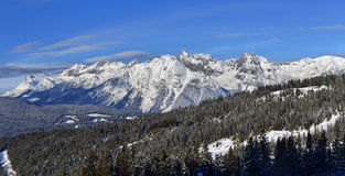 Winter panorama of the Alps Royalty Free Stock Images