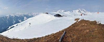 Winter panorama in Austrian Alps Stock Image
