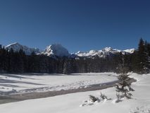 The Winter panorama of The Durmitor mountain Royalty Free Stock Photography