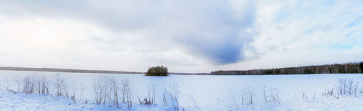 Winter panorama. Panorama of the winter field Stock Images