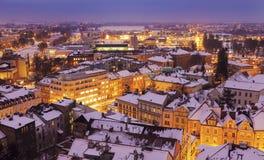 Winter panorama of Hradec Kralove Stock Images