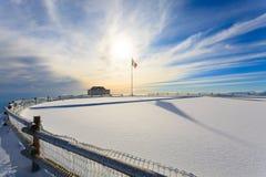 Winter panorama from Italian Alps Royalty Free Stock Photos
