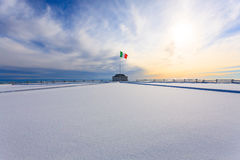 Winter panorama from Italian Alps Royalty Free Stock Images