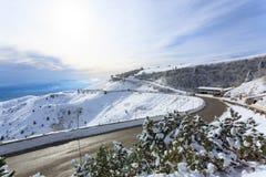 Winter panorama from Italian Alps Royalty Free Stock Photo
