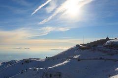 Winter panorama from Italian Alps Stock Image