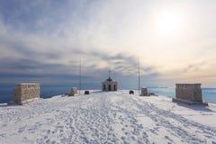 Winter panorama from Italian Alps Royalty Free Stock Photography