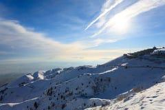 Winter panorama from Italian Alps Stock Photography
