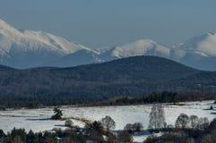 Winter panorama landscape from Vitosha toward Rila mountain Royalty Free Stock Images