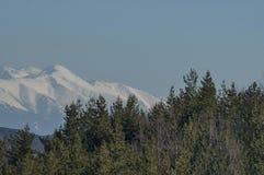 Winter panorama landscape from Vitosha toward Rila mountain Royalty Free Stock Photo