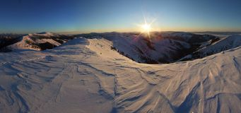 Winter panorama of low tatras in slovakia Stock Photo