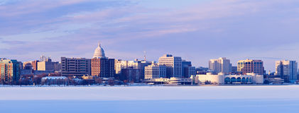Winter panorama of Madison Royalty Free Stock Photos
