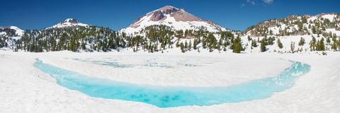 Winter Panorama Mount Lassen Volcano Stock Photos