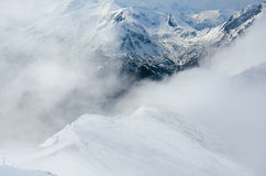 Winter panorama of mountains Royalty Free Stock Images