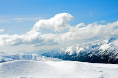 Winter panorama of mountains Stock Images