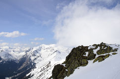 Winter panorama of mountains Royalty Free Stock Photos