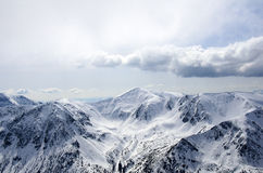 Winter panorama of mountains Royalty Free Stock Photo