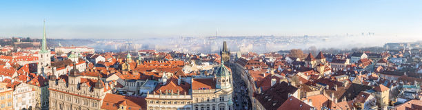 Winter Panorama Of Prague Royalty Free Stock Image