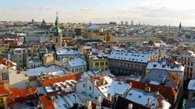 Winter panorama of Prague Royalty Free Stock Photo