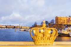 Winter panorama of Stockholm, Sweden Stock Image