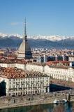 Winter panorama of Turin, Italy Royalty Free Stock Photo
