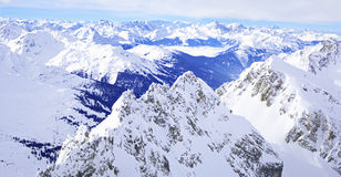 Winter panorama tyrol alps Stock Photos