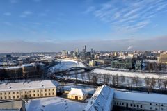 Winter panorama of Vilnius Stock Photography