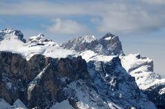 Winter-Panorama von Rifugio Scoiattoli Cinque Torri, Dolomit, Italien Lizenzfreie Stockfotos