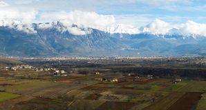 Winter panoramic landscape. Mountains landscape from Abruzzo province in Royalty Free Stock Photography