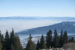 Winter panoramic landscape Royalty Free Stock Photography