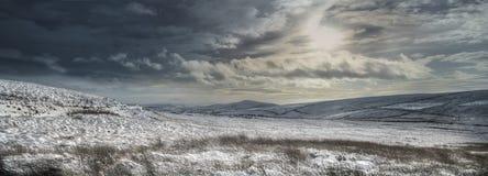 Winter Panoramic Scene Stock Photography