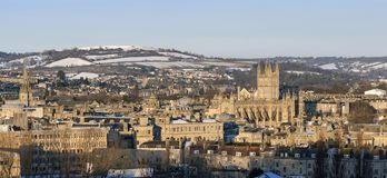 Bath City in the snow Stock Images
