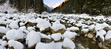 Winter panoramic view Royalty Free Stock Photos