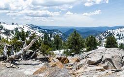 Winter panoramic view from Lassen Peak trail Stock Photography