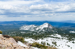 Winter panoramic view from Lassen Peak trail Royalty Free Stock Photography