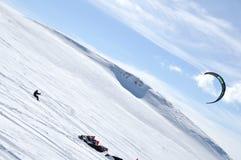 Winter paragliding Royalty Free Stock Photos
