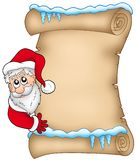 Winter parchment with Santa Claus 1 Stock Image