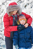 Winter. Parenthood Stock Images